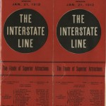 "Cover of the ""The Interstate Line"" program. Hoblitzelle-Interstate Collection."