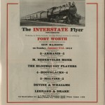 """The Interstate Line"" program. Hoblitzelle-Interstate Collection."
