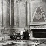 "Felix H. Man, ""Mussolini in His Study at Palazzo Venezia,"" Rome, 1931. Gelatin silver print. 29.4 x 39.2 cm. © Estate of Felix H. Man."
