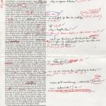"""Page 1 of corrected proof of David Foster Wallace's 1996 essay on the U.S. Open for """"Tennis Magazine."""""""