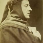 "David Wilkie Wynfield, ""John Everett Millais as Dante,"" 1863. Albumen print. 21.1 x 16.1 cm."