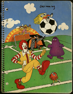 Ronald McDonald swims to Cambodia:  A first glimpse at Spalding Gray's notebooks