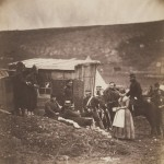 "Roger Fenton. ""Camp of the 4th Dragoon Guards,"" 1855."