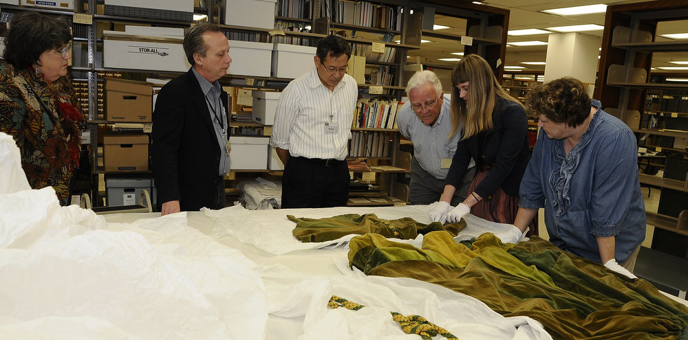 "Conservation work begins on ""Gone With The Wind"" dresses with study of stitching and construction"
