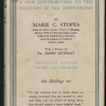 "1932 edition of ""Married Love,"" by Marie Stopes"
