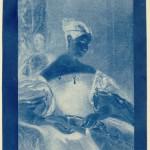 "Sir John Herschel. ""The Honourable Mrs. Leicester Stanhope,"" 1836. Cyanotype."