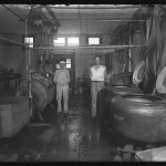 "Unidentified Itinerant Photographer, ""Blue Bonnet Laundry,"" 1934. Gelatin silver glass plate negative."