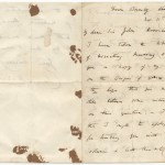 "Letter from Charles Darwin to Sir John Herschel, dated November 11, 1859, that Darwin wrote when he sent Herschel a first edition of ""Origin of Species."""