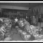 "Unidentified Itinerant Photographer, ""M & M Grocery, Corpus Christi, Texas,"" 1934. Gelatin silver glass plate negative."