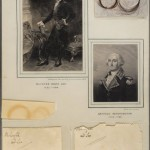 Portraits and hair samples of Richard Henry Lee and George Washington. Photo by Pete Smith.