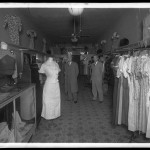 "Unidentified Itinerant Photographer, ""Unidentified ladies' store,"" 1934. Gelatin silver glass plate negative."