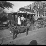 "Unidentified Itinerant Photographer, ""Valley Fruit Stand,"" 1934. Gelatin silver glass plate negative."