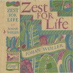 """Johan Woller. """"Zest for Life,"""" flag cover. Alfred A. Knopf."""