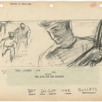 """Storyboards from """"Rebel Without a Cause"""" (1955)."""