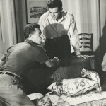 "Nicholas Ray directing Robert Ryan in ""On Dangerous Ground"" (1952)."