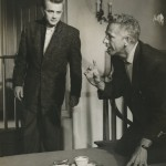 """Nicholas Ray with James Dean on the set of """"Rebel Without a Cause"""" (1955)."""