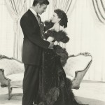 """Vivien Leigh, wearing the burgundy ball gown, and her co-star Clark Gable in """"Gone With The Wind."""""""