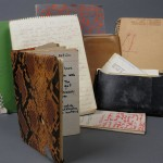 Nicholas Ray's notebooks, journals and notes. Photo by Pete Smith.