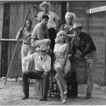 USA. Reno, Nevada. 1960. Film set of 'The Misfits' by John HUSTON, with American actors Marilyn MONROE, Clark GABLE, Montgomery CLIFT and Eli WALLACH.