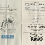 "Margy's copy of ""The Devil's General"" playbill."