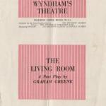 """Playbill for Graham Greene's """"The Living Room."""""""