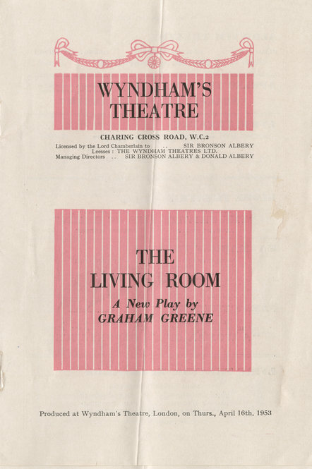 Playbill For Graham Greenes The Living Room