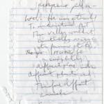 "Denis Johnson's draft fragments for ""Train Dreams"""