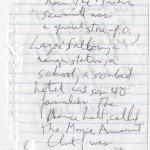 "Denis Johnson's draft fragments for ""Train Dreams."""