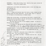 """Page 9 of Denis Johnson's typed notes, with handwritten annotations, for """"Train Dreams,"""" dated 7/2/98."""