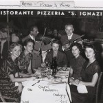 Photo of Mary, Margy, and others from the tour in Rome.