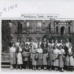 Photo of the 24 girls at Heidelberg Castle.