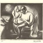 """Tailor at Salvation Army, Omaha, Nebraska. 1934. 10 7/8"""" x 12 ¾"""""""
