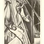 "The Knocker. 1934. 11 ¾"" x 8 ¼"""
