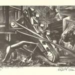 """Bootleg Coal, Pennsylvania. 1936. 9 7/8"""" x 14"""""""