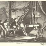 "Forging Axles. 1937–1939. 12 5/8"" x 19"""