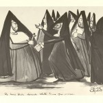 "The Nuns Union Demands Shorter Hours for Prayer. 1935–1945. 11"" x 17"""
