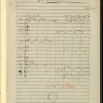 "First page of Maurice Ravel's ""Mother Goose"" manuscript score for orchestra with revisions and annotations, 1911."