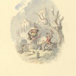 """Halbot Knight Browne (also known as """"Phiz."""") """"The Goblin and the Sexton."""" Original illustration for """"The Pickwick Papers."""""""