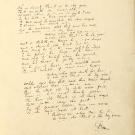"Holograph fair copy manuscript of ""The Ivy Green"" in Dickens's hand from the album of Miss Georgina Ross. Undated."