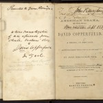 "Title page of John Brougham's prompt copy of a theatrical adaptation of ""David Copperfield."" Undated."