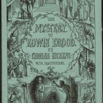"Cover of a first edition of the first part of ""The Mystery of Edwin Drood"" by Charles Dickens. 1870."