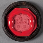 Wax impression of Charles Dickens's seal. Photo by Pete Smith.