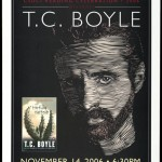 "Promotional poster for a reading of ""The Tortilla Curtain"" by T. C. Boyle on November 14, 2006."