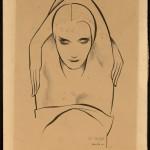 De Negre, 1931. Pen and ink. ©Tom Lea Institute.
