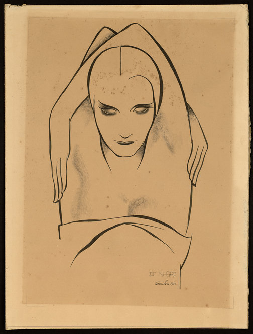 De Negre, 1931. Pen and ink. ©Tom Lea Institute.