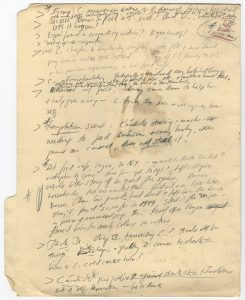 "File folder with notes for ""The Tortilla Curtain"" by T. C. Boyle."