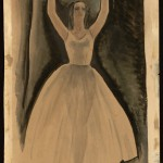 Tom Lea (American, 1907-2001). Untitled [Ballerina], 1951. Watercolor and ink wash on paper. ©Tom Lea Institute.