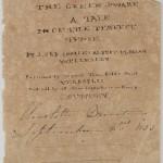 "Signed title page of Charlotte Brontë's ""The Green Dwarf."" September 2, 1833."