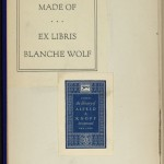 "Cover of one of the very earliest Knopf imprints, Nicolai Gogol's ""Taras Bulba"" (1915). The inside cover shows the bookplate of Blanche Wolf, soon to be Blanche Knopf, and bears an early bookplate from the firm's library."
