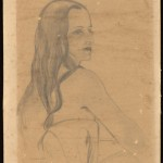 "Tom Lea (American, 1907-2001). Untitled. Inscribed: ""To my friend Martha [Esquivel Hahn] –Tom Lea,"" ca.1950. Pencil on paper. ©Tom Lea Institute."
